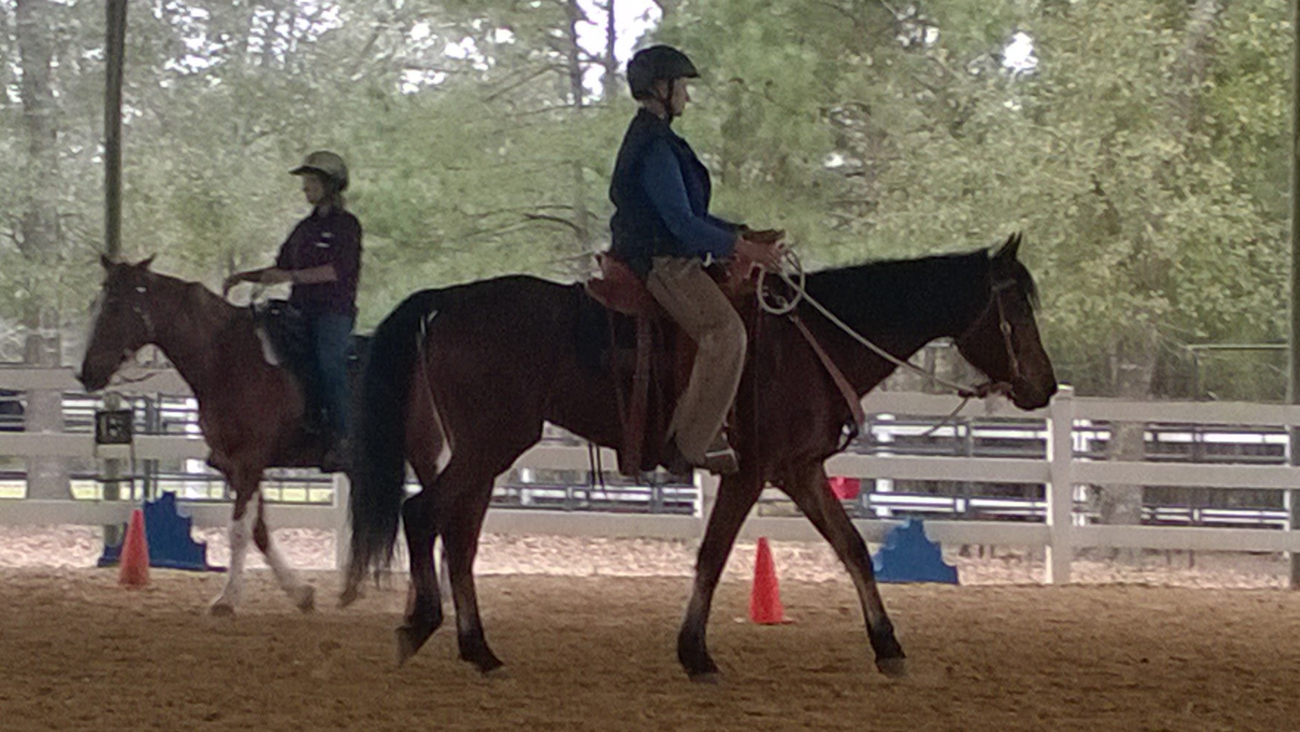 Earline and Dusty at Brent Graef clinic in Woodlands, TX